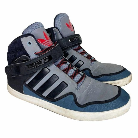 Adidas High Top Strap Textured Lace Up Shoes 10.5
